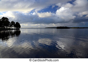 Sunrise at the lake (St. George Basin, NSW, Australia)