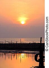 Sunrise at the lake ,Thailand