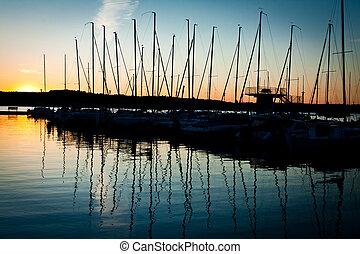 Sunrise at the Marina harbour