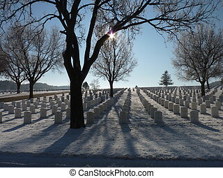 Sunrise at the National Cemetery