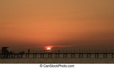 Sunrise at the sea time laps
