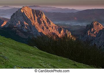 Sunrise at the Urkiola Natural Park