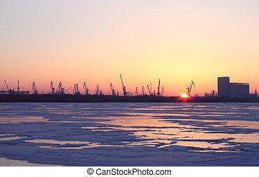 sunrise at winter