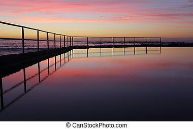 Sunrise at Wombarra Ocean Rock Pool