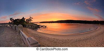 Sunrise Balmoral Beach Panorama  Australia