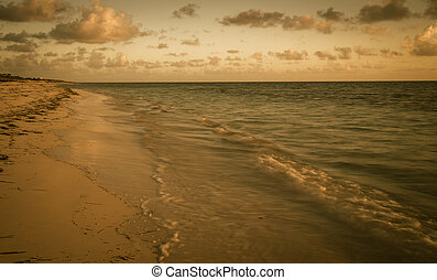 sunrise beach in Caribbean