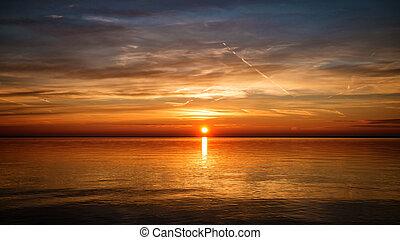 Sunrise - Beautiful sunrise  landscape with  trees