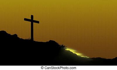 Sunrise Behind Cross