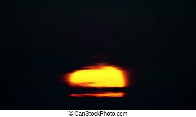 sunrise big sun 4k