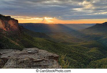 Sunrise Blue Mountains Australia
