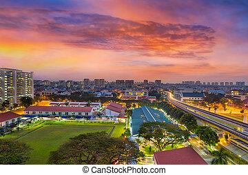 Sunrise by MRT Station in Eunos Singapore - Sunrise over...
