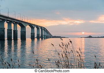 Sunrise by the bridge