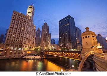 sunrise., chicago