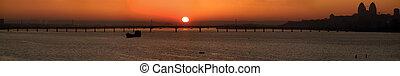 Sunrise city panorama