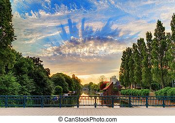 Sunrise clouds Amsterdam