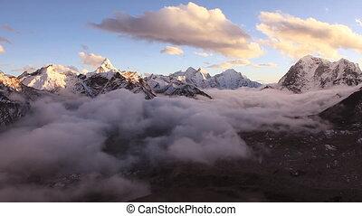 Sunrise Clouds Mountains Himalayas