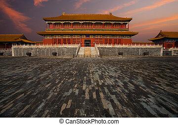 Sunrise Forbidden City Building Wet Floor