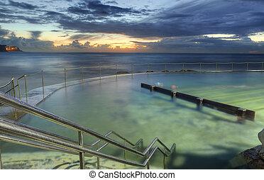 Sunrise from Bronte baths, Bronte, Australia