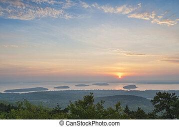Sunrise from Cadillac Mountain Main - Sunrise over Frenchman...