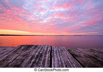 Sunrise from dockside