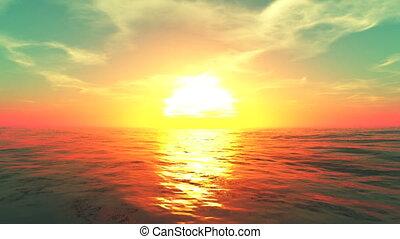 sunrise from horizon