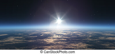 sunrise from space
