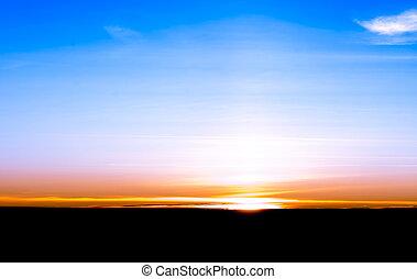 Sunrise from the dark