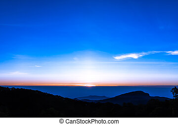 Sunrise from the mountain