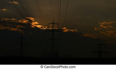 Sunrise. Fuel and power generation - Sunrise through the...