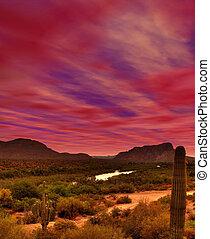 Sunrise Gila river Arizona