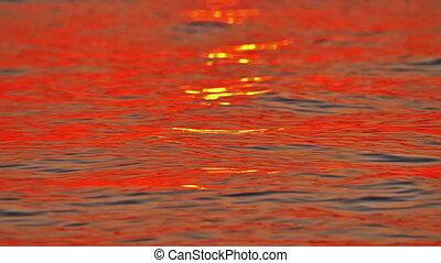 sunrise golden sea slow motion 180 fps