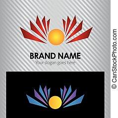 Sunrise icon. template logo design