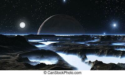 Sunrise Illuminates Alien Planet