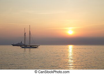 Sunrise in Antibes, France