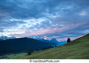sunrise in Bavarian Alps
