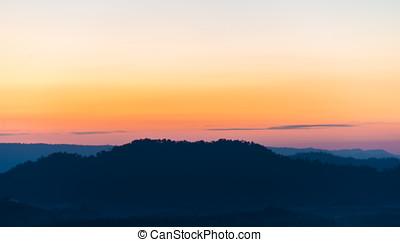 sunrise in beginning new day