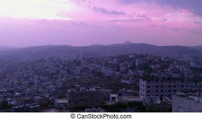 Sunrise in Bethlehem, Palestine, time lapse - Sun is rising...