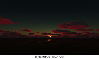 sunrise in clam sea