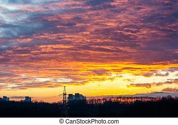 Sunrise in flames