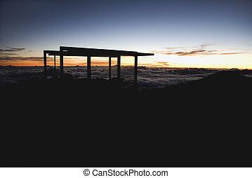 Sunrise in Haleakala.