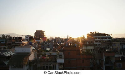 Sunrise in Kathmandu - Sunrise in the capital of Nepal, the...