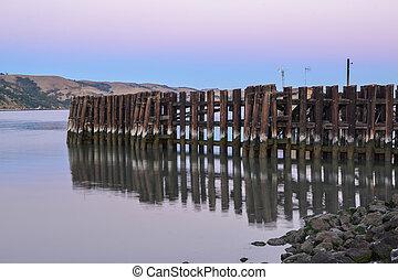 Sunrise in Martinez - Sunrise at the waterfront of Martinez,...