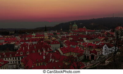 Sunrise in Prague. Old Town. Time l