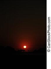 Sunrise in Rio de Janeiro, Ipanema beach and  Arpoador