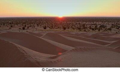 sunrise in Sahara desert. Full HD