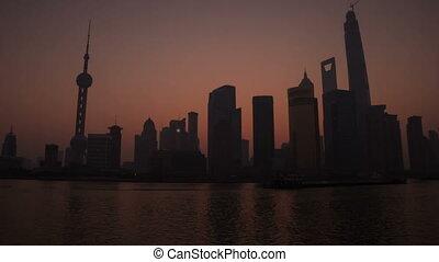 Sunrise in Shanghai