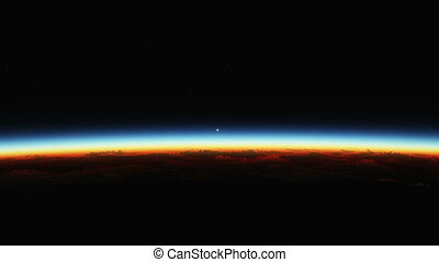 The Sun Rising Over Planet Earth
