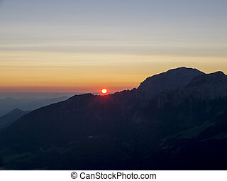 sunrise in the german alps