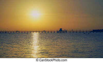 Sunrise in the Indian Ocean