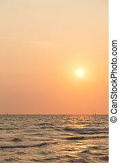 Sunrise in the morning